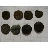 8 античные монеты-