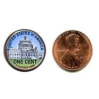 США 2009 ЦВЕТНОЙ цент Lincoln Capitol Building CENTER