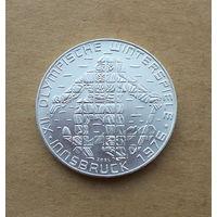 Австрия, 100 шиллингов 1976 г., 12-я зимняя Олимпиада в Инсбруке, серебро