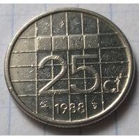 Нидерланды 25 центов, 1988      ( К-8-1 )