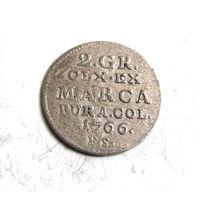 2 гроша пол злотовки 1766 Станислав Август