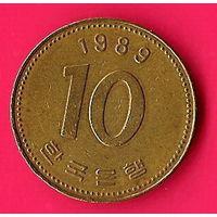 49-26 Южная Корея, 10 вон 1989 г.