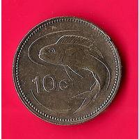 29-29 Мальта, 10 центов 1991 г
