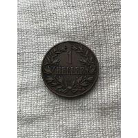 Германская Восточная Африка 1 геллер 1905 J