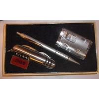 Набор подарочный зажигалка с подсветками, ручка, нож!