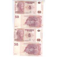 50 франков Конго 2013 года.пресс!