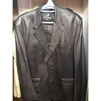 Пиджак кожаный Франция размер 56-58.