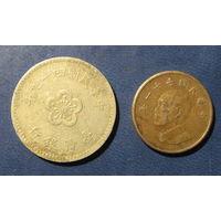 Тайвань. 1 доллар. 2 шт.
