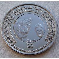"""Того. 1 франк 2014 год  UC#100  """"100 лет Начала 1-й Мировой войны"""""""