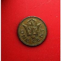 54-24 Барбадос, 1 цент 1980 г.