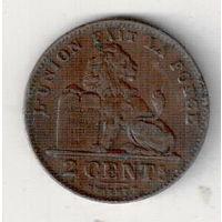 Бельгия 2 сантим 1909