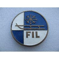 Медаль настольная. FIL (Международная федерация санного спорта) Москва 1994 г. (тяж. мет.)