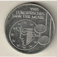 Германия 5 марка 1985 Европейский год музыки