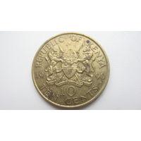 Кения 10 центов  1990