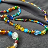 Бусы, ожерелье, мальтийское стекло, 130см длинна