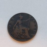 1 Пенни 1908 (Великобритания) Эдвард VII