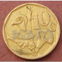 6116:  10 центов 1993 ЮАР