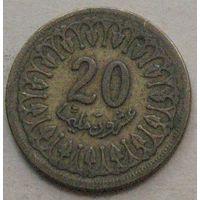 Тунис, 20 миллимов 1960