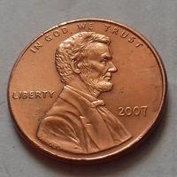 1 цент США 2007, 2007 D, AU
