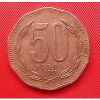 58-28 Чили, 50 песо 2001 г.