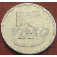 294**  5 злотых 1990 Польша