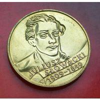 2 злотых 1999 Польша 150 лет со дня смерти Юлиуша Словацкого (Juliusz Slowacki)
