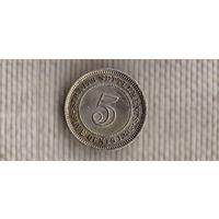 Стрэйт Сеттлменс 5 центов 1935(серебро)(Nv)