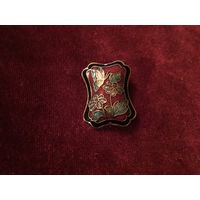 Брошь Бабочка на Цветке Эмаль Клуазоне Англия 60-е г