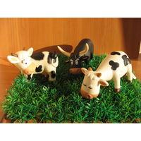 Животные на ферме, луг, настил, трава для животных