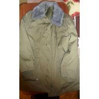 Куртка военная зимняя. Цвет темно-зеленый (оливковый), р.52-4. На подстежке. Новая.