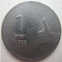 Индия 1 рупия 2007 г. (g)