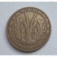 Западная Африка 5 франков, 1965 1-1-20
