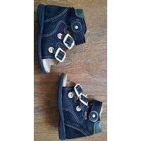 Туфли открытые для мальчиков р18, натуральная кожа