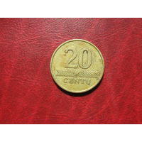 20 центов 1997 год Литва