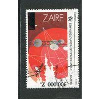 Заир. Спутниковые антены, спутник. Надпечатка 300 000 на 1.20