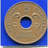 Британская Восточная Африка 5 центов 1964