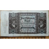 2 миллиона марок 1923г. Берлин