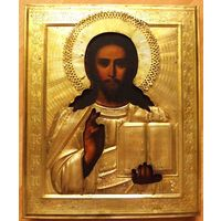 Икона Господь Вседержитель . Оклад латунь.