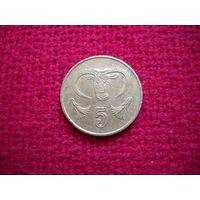 Кипр 5 центов 1993 г.