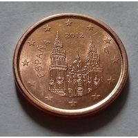 1 евроцент, Испания 2012 г.