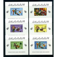 Футбол Спорт Чемпионат Мира Испания 1982 Ливия Джамахирия MNH полная серия 6 Люкс блоков эуб  лот РАСПРОДАЖА