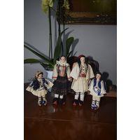 Лот 4 куклы коллекционные, Франция 1960е