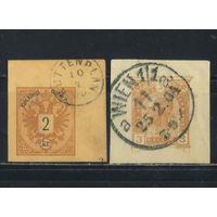 Австро-Венгрия Имп 1883-1904 Герб Франц Иосиф I Вырезки из почтовых отправлений