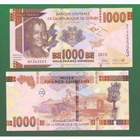 Банкнота Гвинея 1000 франков 2015 UNC ПРЕСС