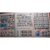 Большой лот чистых марок СССР, корабли, флот, часть марок в парах и квартах, высокая цена каталога