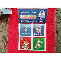 Комплект закладок магнитных  футбол ЧМ 2018  ЗАБИВАКА акцизная марка ФИФА Fifa Zabivaka RUSSIA 2018