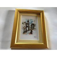 Картина-миниатюра Старый город  Германия