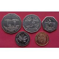 Мадагаскар. набор 5 монет 1, 2, 10, 20, 50 франков 1999 - 2004 года