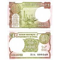 Индия  1 рупия  2016 год.   UNC