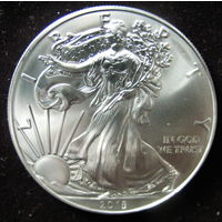 American Silver Eagle Шагающая свобода, 1 доллар, 2018, серебро (инвестиционная)